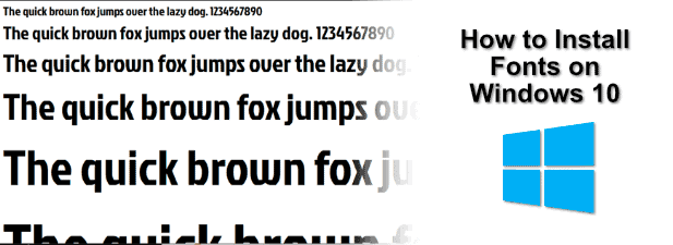 How to Install Fonts on Windows 10